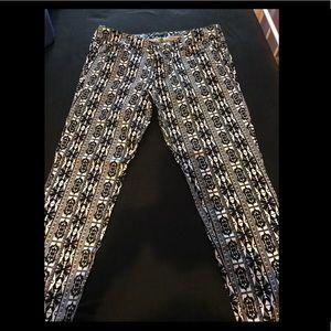 Tribal print plus size pants